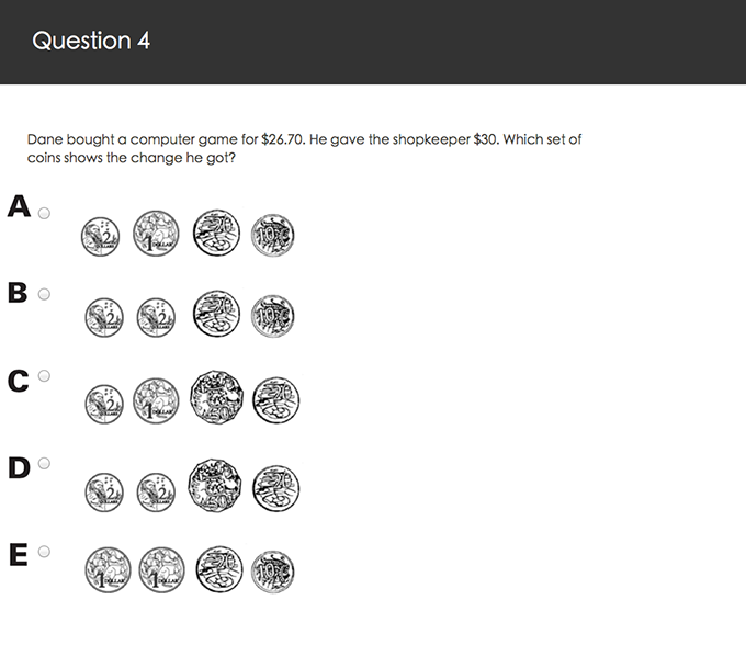 Primary image for question PAT Maths Plus, Test 6, Q4